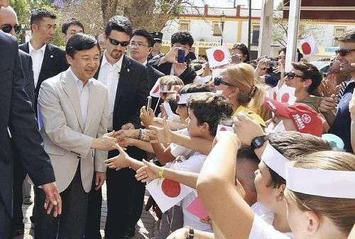 皇太子さま、ハポンさんが歓迎…スペイン南部へ : 社会 : YOMIURI ONLINE(読売新聞)