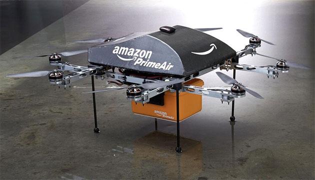 アマゾン、30分以下で届ける小型無人8翼ヘリPrime Air を公開。実用化は2015年以降 - Engadget Japanese