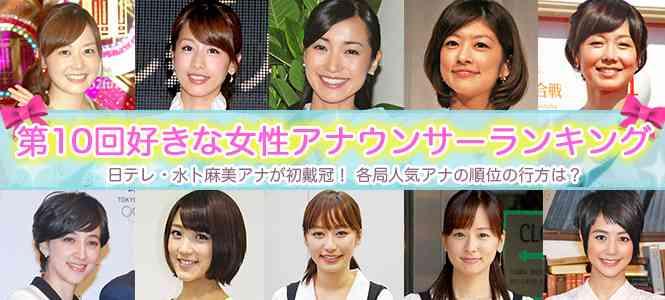 好きな女性アナウンサーランキング発表!フジ・加藤綾子アナV3ならず