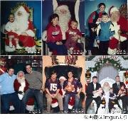 """""""兄弟でサンタと写真""""30年超、母親を喜ばせたい一心で恒例行事に。 - BIGLOBEニュース"""