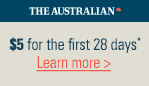 Cookies must be enabled. |  The Australian