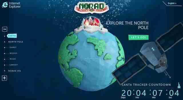 今年もあの人がやってくる! 北米の空を見守る「NORAD」によるサンタ追跡専用サイト(動画あり) : ギズモード・ジャパン