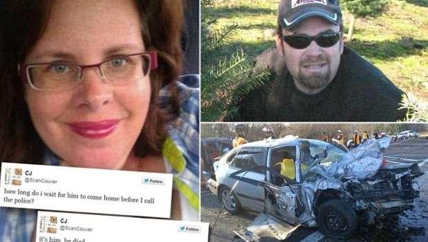 Twitterで交通事故の実況をしていた女性→死亡したのが夫だと気づきパニックに