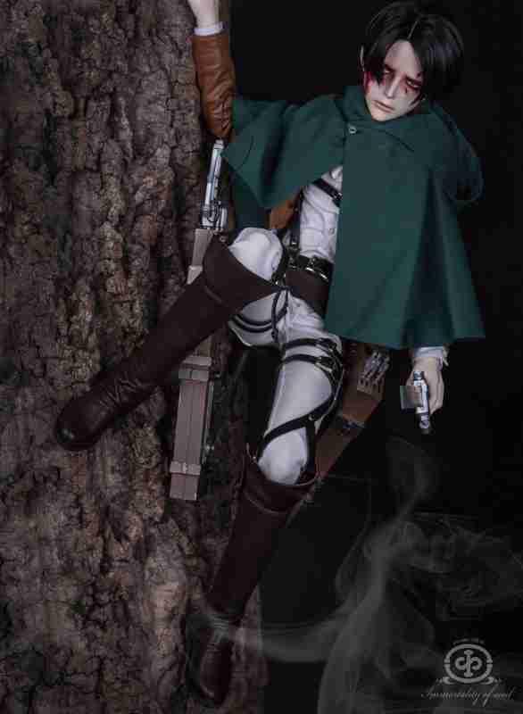【進撃の巨人】リヴァイ兵長のドールが怖すぎる…。