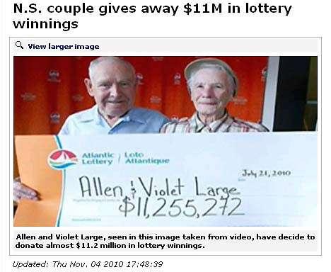 39億円相当の宝くじ当せん金、「必要ない」と全額寄付