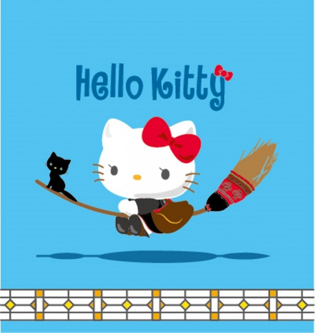 『魔女の宅急便』×キティちゃん、夢のコラボ決定!黒猫ジジをお供に空を飛ぶ