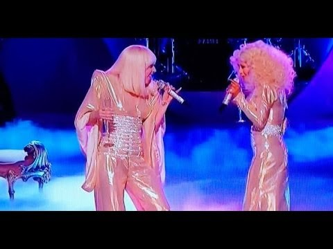 Lady Gaga & X Tina - 'Do What U Want' Live The Voice - YouTube