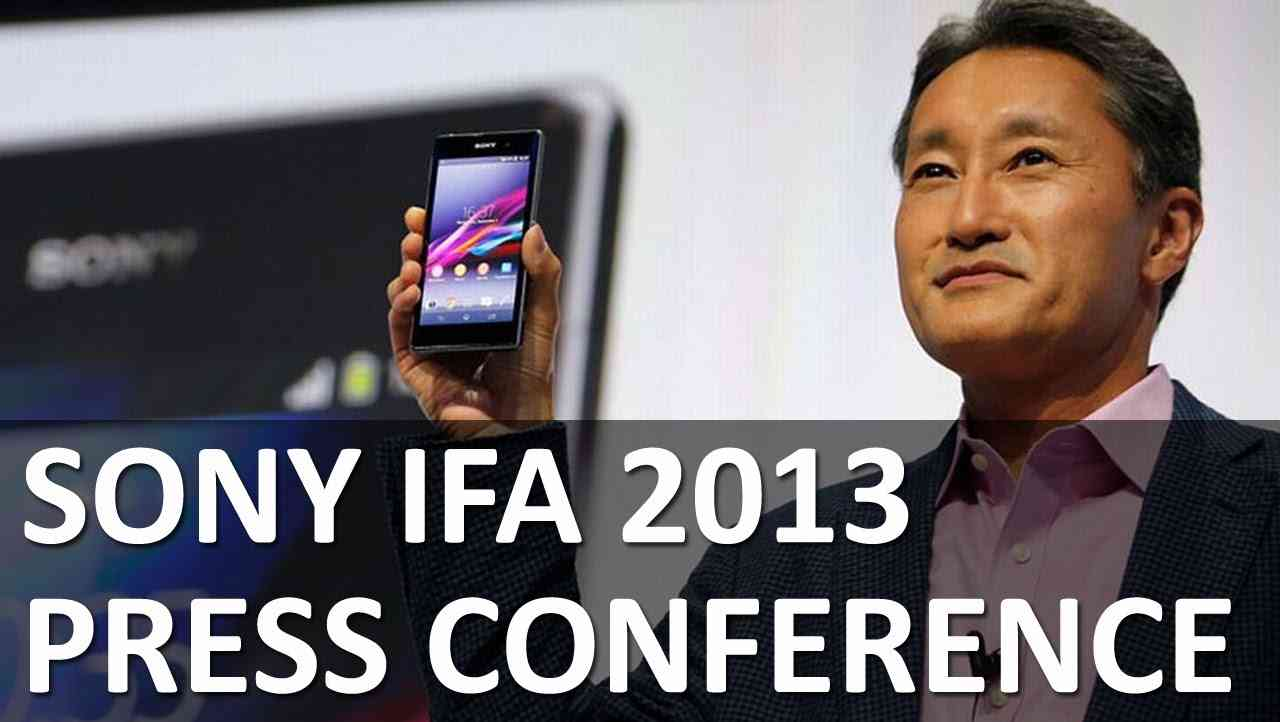 The 2013 Sony Press Conference at IFA, Berlin - YouTube