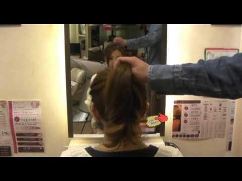 お団子ヘアの作り方 -お団子作り編- - YouTube