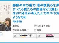 AKB48 34thシングル「鈴懸なんちゃら」初日売上916,912枚 - AKB48まとめんばー