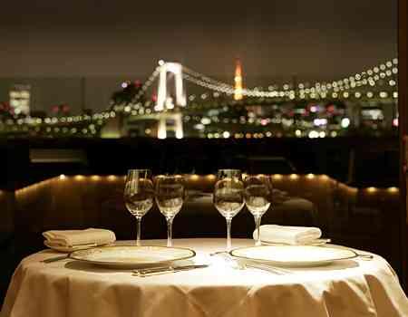 女性「クリスマスのディナーは夜景の見えるレストランで」