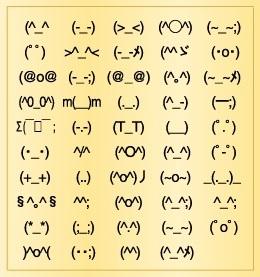 好きな顔文字を挙げてくださいっ!