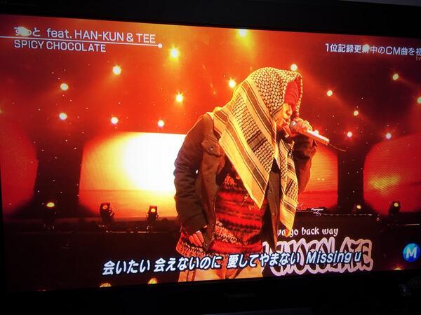 Mステで湘南乃風のHAN-KUNが謎の布をかぶっていたと話題にww