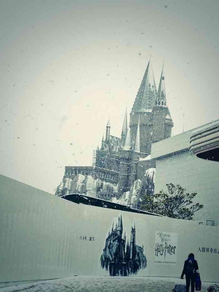 USJ「ハリー・ポッター」のアトラクションに雪が降り、リアルホグワーツな感じに!