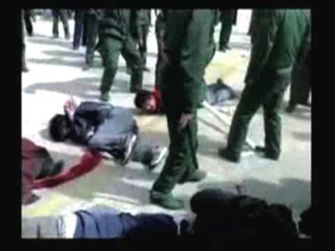 チベットにおける中国軍の蛮行 - YouTube