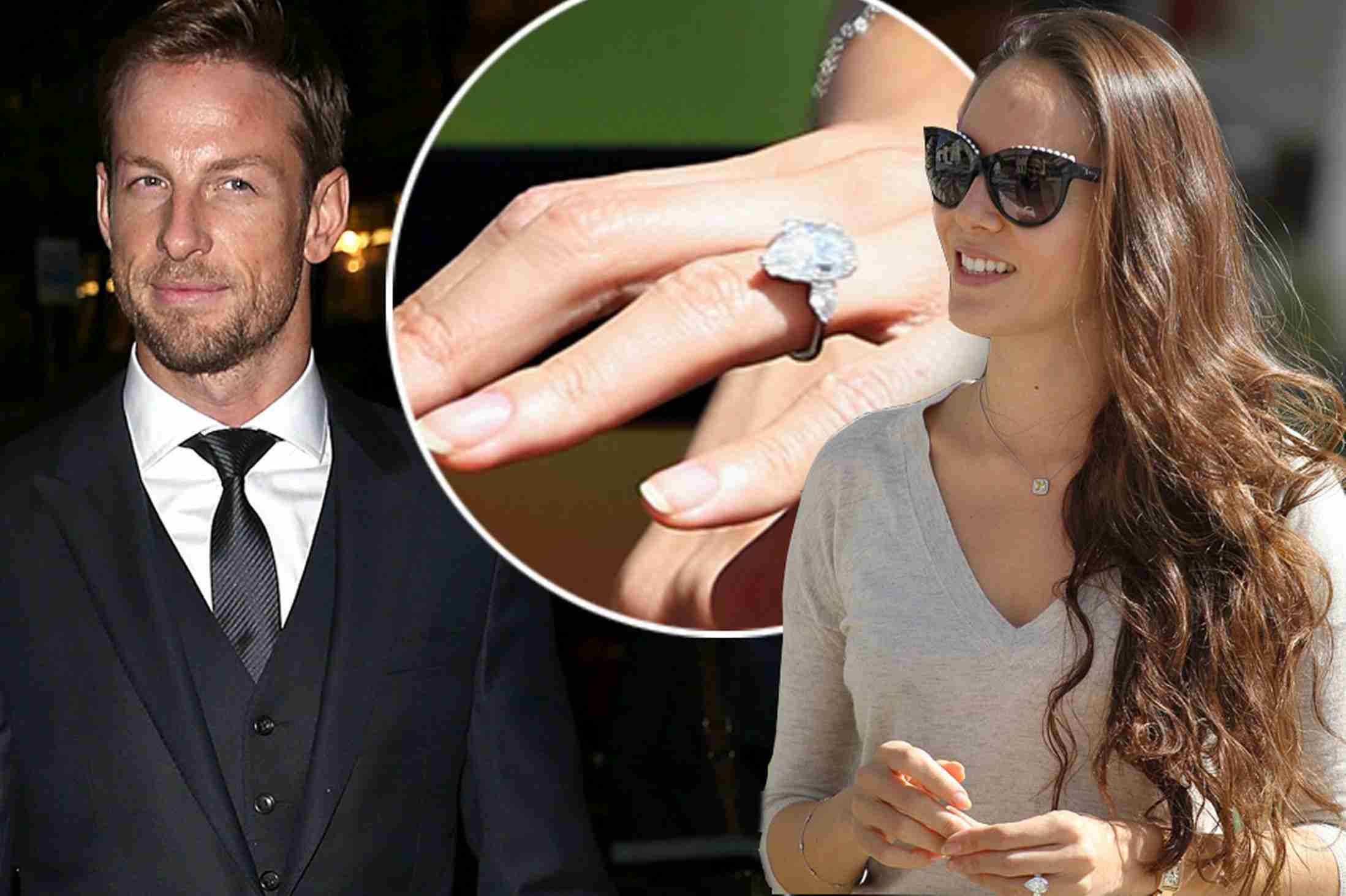 Jenson Button and Jessica engaged: Model spotted sporting huge rock - 3am & Mirror Online