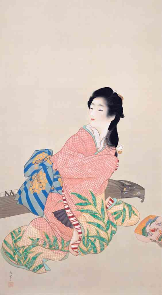 [フリー絵画素材] 上村松園 – 娘深雪 (1914) ID:201311230800 - GATAG|フリー絵画・版画素材集