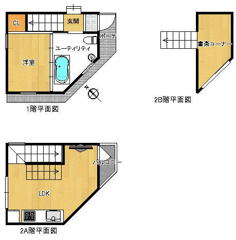 「完成!ドリームハウス」で作られたトイレ・風呂が寝室にある家が売り出し中!
