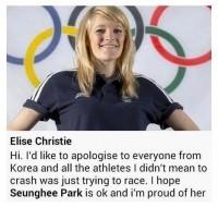 <ソチ五輪>英国選手に韓国から脅迫文、女子ショートトラックで韓国選手巻き込み転倒―中国メディア (Record China) - Yahoo!ニュース
