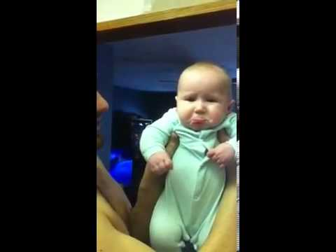 Cute Baby Hates Kisses - YouTube