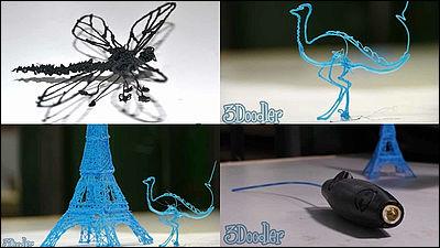 世界初の手描き3Dプリントが可能なペン「3Doodler」、専用ソフトは不要で6000円台から - GIGAZINE