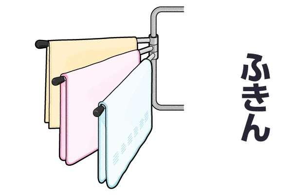 ふきんを洗う頻度
