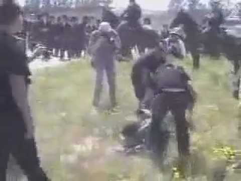 Zionist Thugs Beating Up Jewish Rabbis - YouTube
