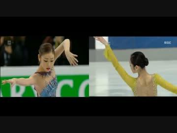 【比較】2013年世選とゴールデンスピンのSPを比べてみた【キム・ヨナ】 ‐ ニコニコ動画:GINZA