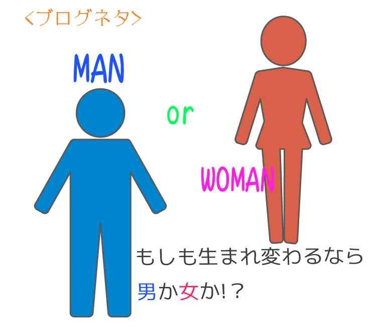 男と女、生まれ変わるならどっち?