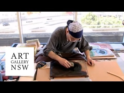 Ukiyo-e woodblock printmaking with Keizaburo Matsuzaki - YouTube