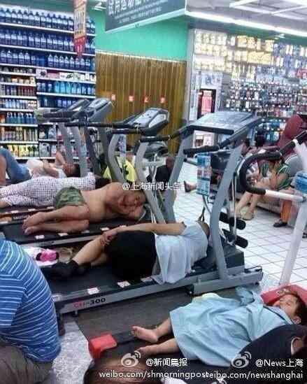 中国の猛暑で人々が涼を求めた結果ww