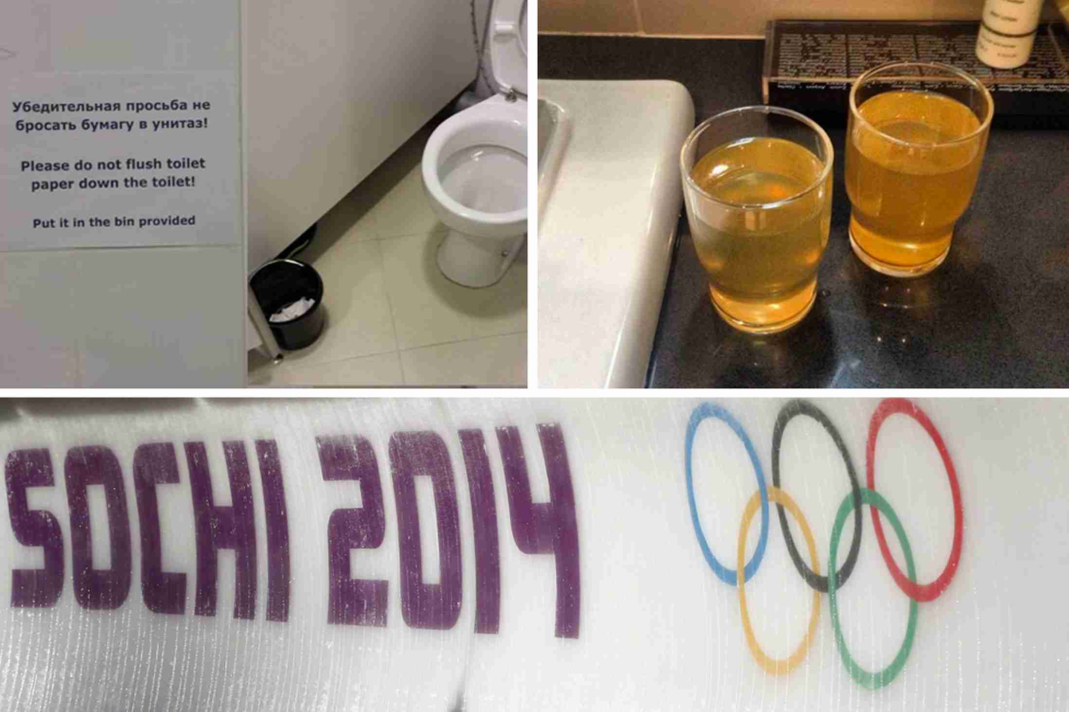 Sochi Winter Olympics 2014 hotels: From yellow water to no flushing toilets, Twitter exposes awful accommodation - Mirror Online
