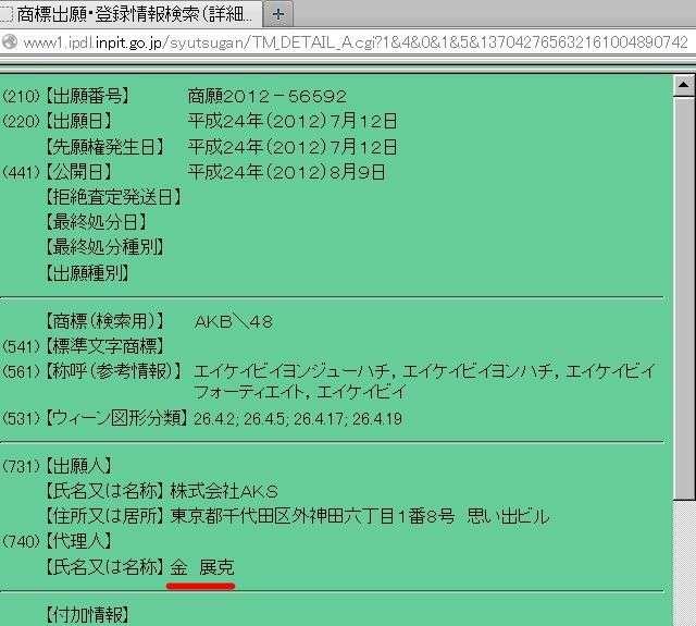 【悲報】 NHK「ヘイトスピーチ特集」でお馴染みのしばき隊メンバー金展克氏 AKB48の商標登録代理人だった : タウリン速報