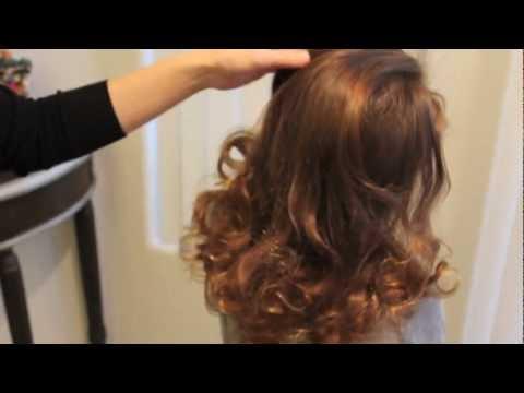 靴下!をつかって巻き髪 ソックカール no-heat sock curls - YouTube