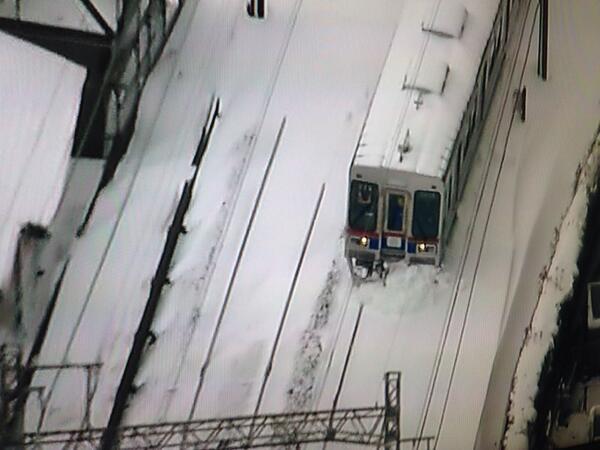 京成電鉄の除雪作業がスゴイと話題