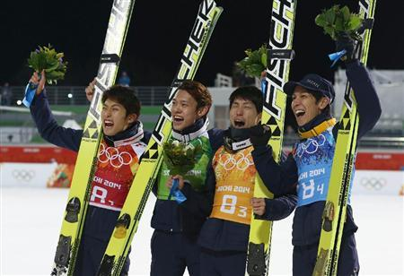 ソチオリンピック Yahoo! JAPAN - 【ソチ五輪】日本は3位、団体で16年ぶりメダル獲得/ジャンプ(サンケイスポーツ)