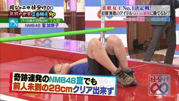 断食3日間に成功したNMB48室加奈子のお腹が細すぎてくびれがヤバイw