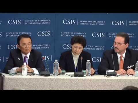 【水道民営化】麻生太郎副総理兼財務相が言及 2013年4月19日 G20財務相・中央銀行総裁会議 CSIS戦略国際問題研究所 - YouTube