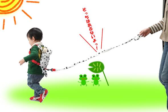 「子供」に犬のようにリードを付ける親が増えている。 オヅラさん「オイ、まるで奴隷じゃないか」