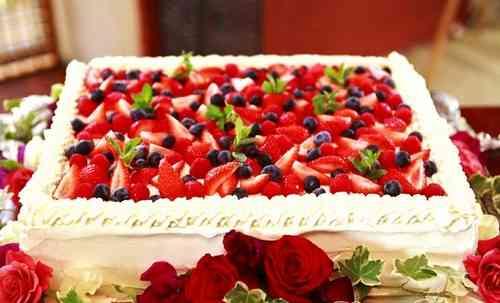 ウエディングケーキ ウエディングケーキ 一段 デザイン  どんなウェディングケーキに .
