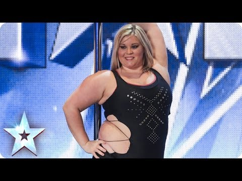 A pole-dancing masterclass from Emma Haslam | Britain's Got Talent 2014 - YouTube