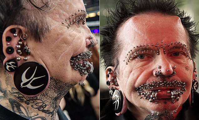 Rolf Buchholz , man with the world record for most piercings was denied entry to Dubai | Mail Online