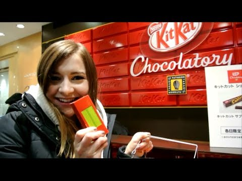World's First KIT KAT STORE in Tokyo 世界初キットカット専門店 池袋 - YouTube