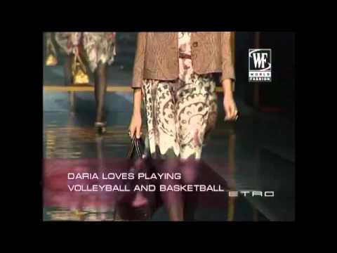 Top Model Daria Werbowy (Trends: Versace, Cavalli, Ralph Lauren and more) - YouTube