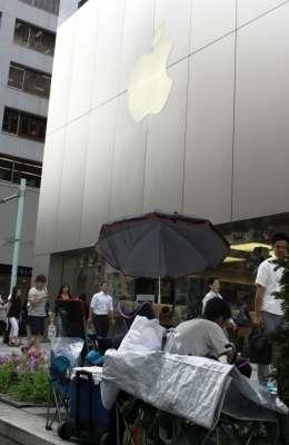 「iPhone6」まだ発表もされてないのに… ファンがアップルストア銀座に寝袋持参で順番待ち : J-CASTニュース
