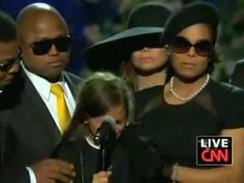 Paris Jackson at Michael Jackson Memorial Staples Center - YouTube