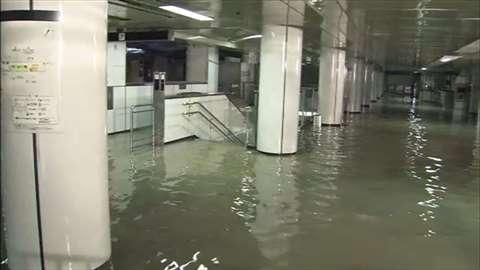 「地下鉄名古屋駅で浸水被害、始発から運転ストップ」 News i - TBSの動画ニュースサイト