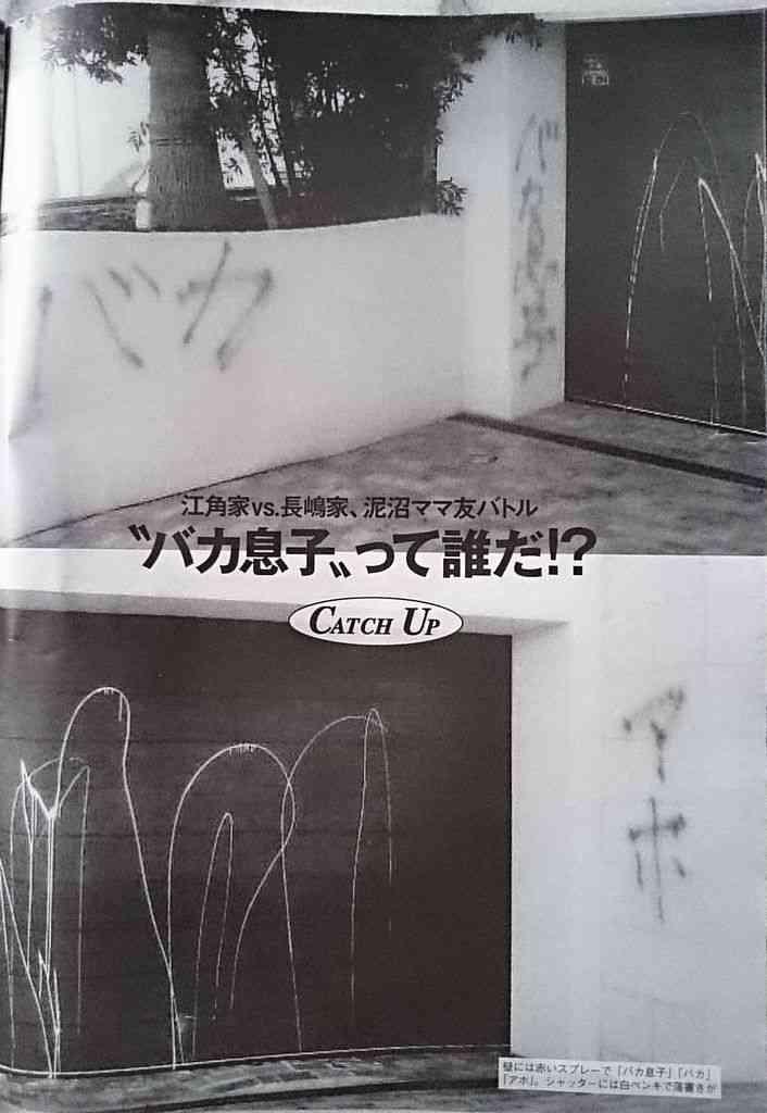 江角マキコが指示した長嶋一茂邸の落書きが酷すぎる…ママ友いじめ告白から犯罪者に転落か