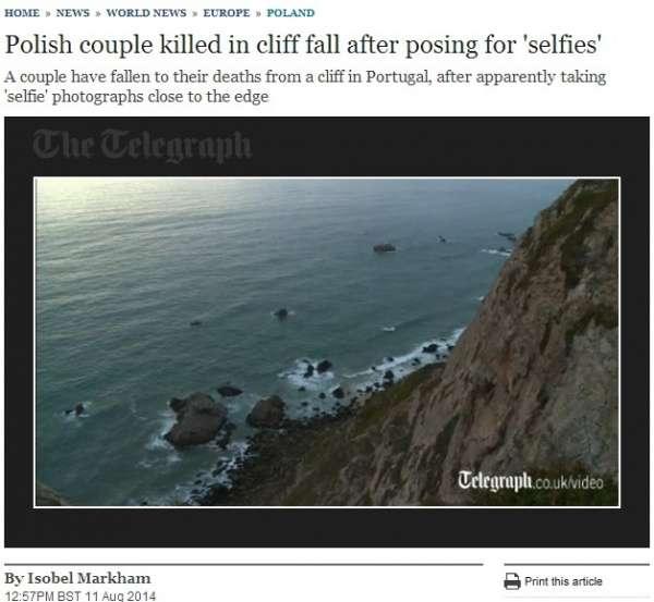 自撮り写真の撮影に夢中で死亡事故、世界中で後を絶たず