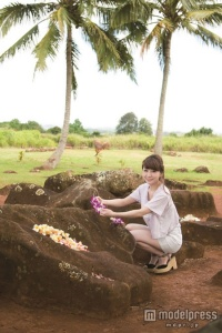 結婚4年目・あいのり桃、ハワイで子宝祈願